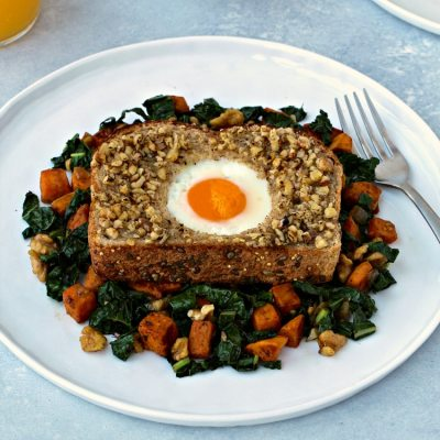 Walnut-Crusted Toad in a Hole