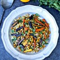 Barley Salad with Roasted Carrots and Chickpeas | @foodiephysician