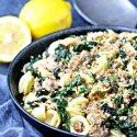 Orecchiette with Kale, Turkey Sausage and Gremolata Breadcrumbs | @foodiephysician