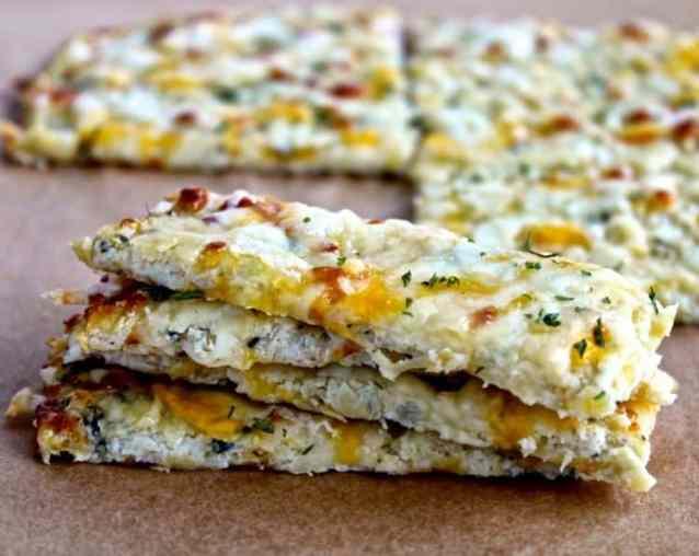 Cauliflower Cheesy Bread   @foodiephysician