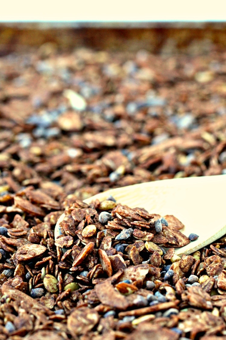Chocolate Coconut Almond Granola | @foodiephysician