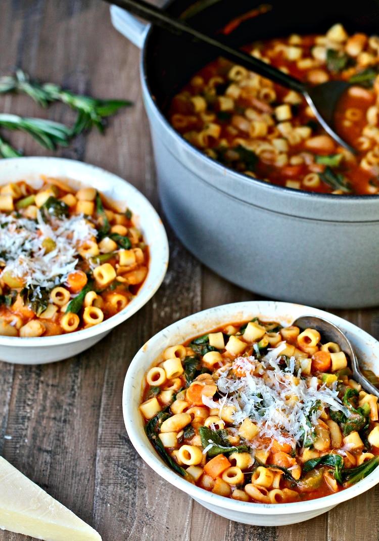 Pasta Fagioli with Greens