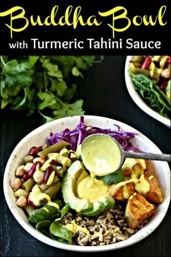 Buddha Bowl with Turmeric Tahini Sauce