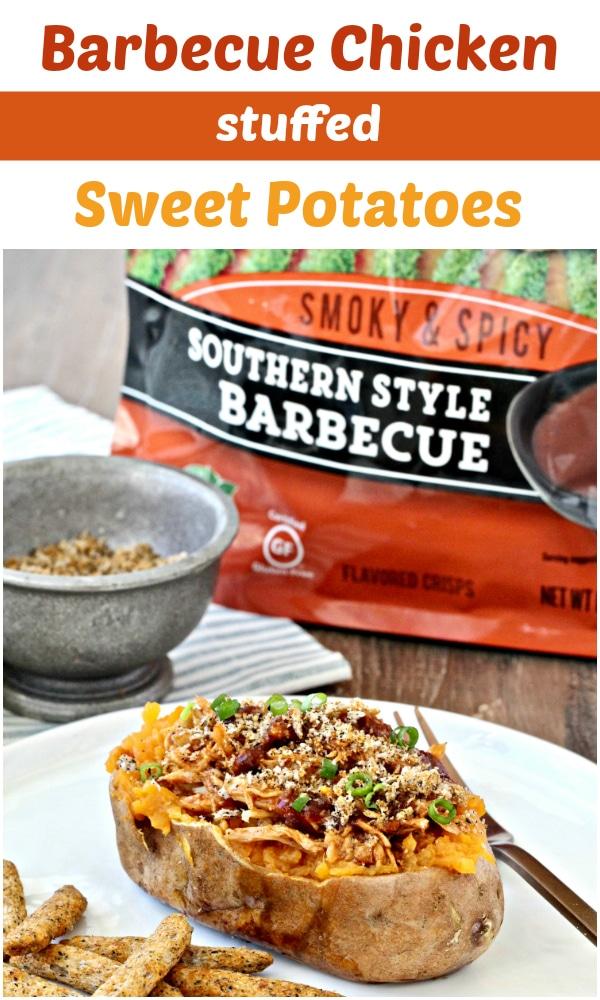 Barbecue Chicken Stuffed Sweet Potatoes