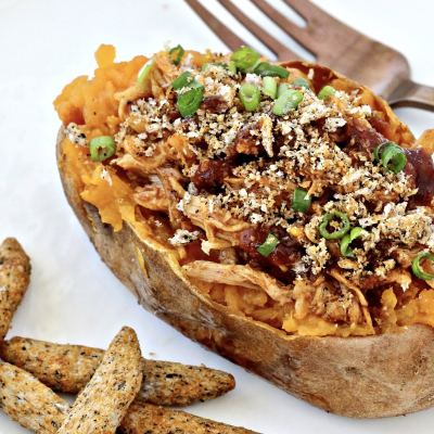Barbecue Chicken Stuffed Sweet Potatoes