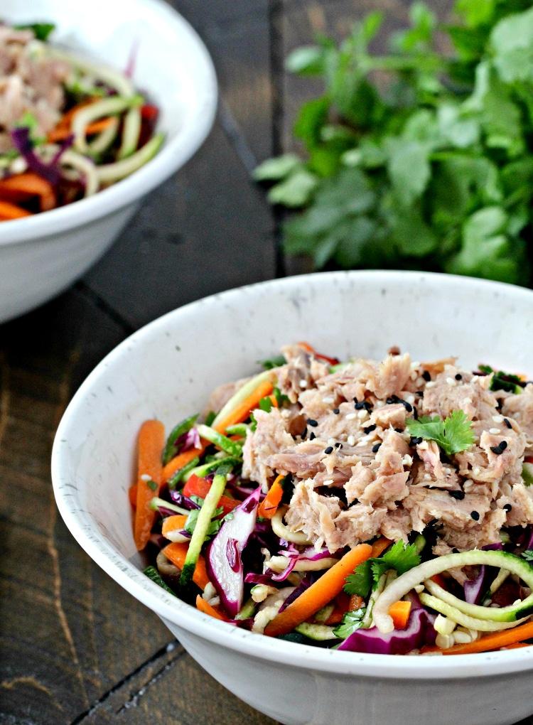 Asian Zoodle Tuna Salad