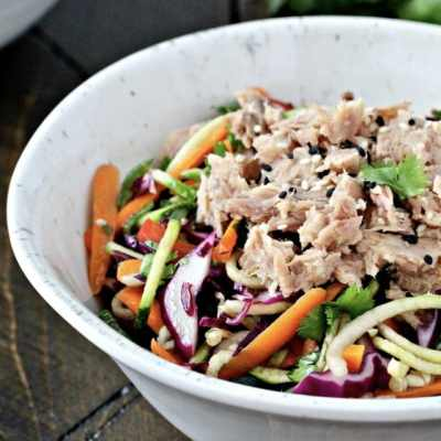 Asian Zoodle Tuna Salad