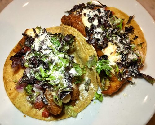 608 Mission Duck skin chicharonne tacos