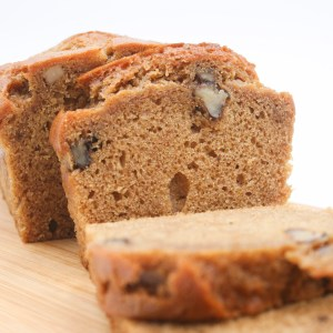 Sliced walnut loaf