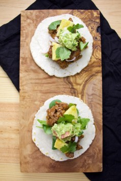 pork shredded tacos pineapple