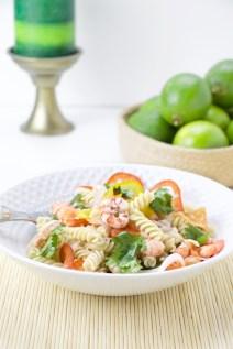 Ceviche quinoa pasta shrimp lime