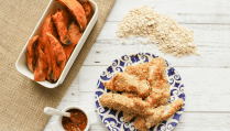 Gluten-Free Oat Fish Fingers & Paprika Sweet Potatoes