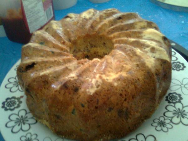 Festive fruit-nut Bundt Cake