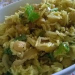 Chana Pulao(Rice cooked with spiced Chickpeas)