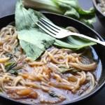 Tomato Celery Noodle Soup