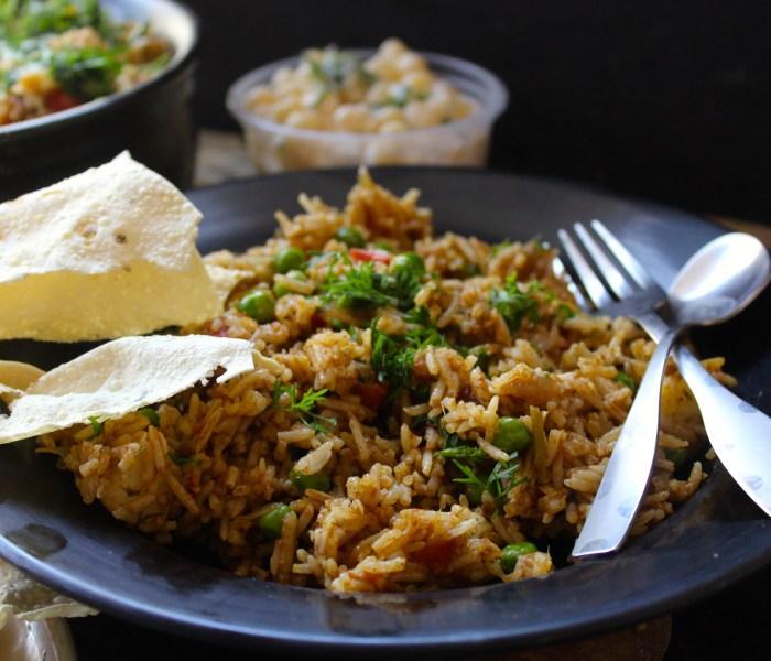 Tawa Pulao – a Mumbai street food!