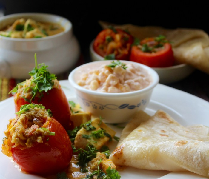 Shahi Stuffed Tomato Curry
