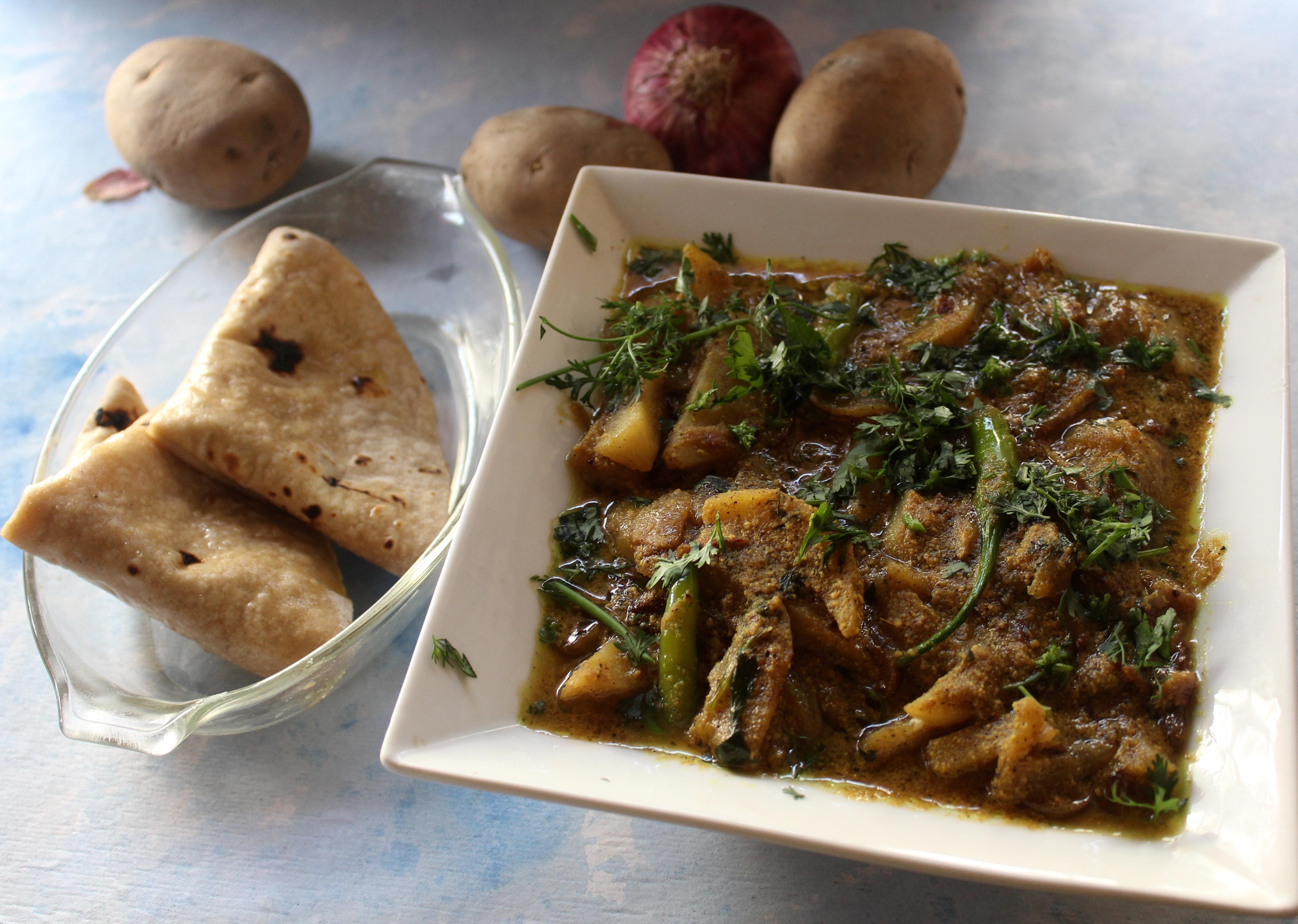 Aloo Palda ( a Himachali Potato Curry)