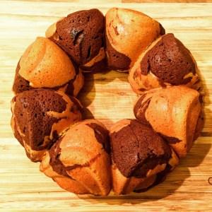 Low FODMAP Chocolate Marble Bundt Cake