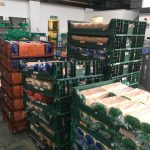 A warehouse full of food