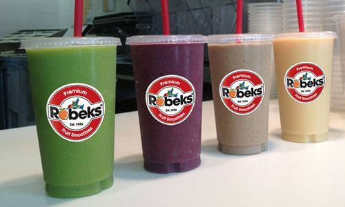 Robeks menu with prices