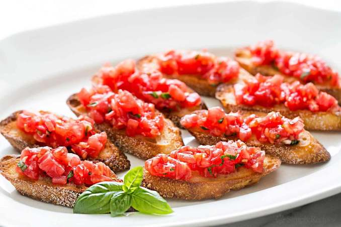 gluten-free garlic bread bruschetta