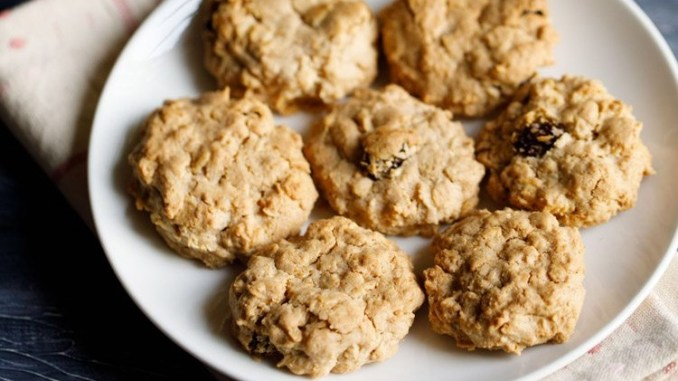 Quaker Oatmeal Raisin Cookies without Brown Sugar