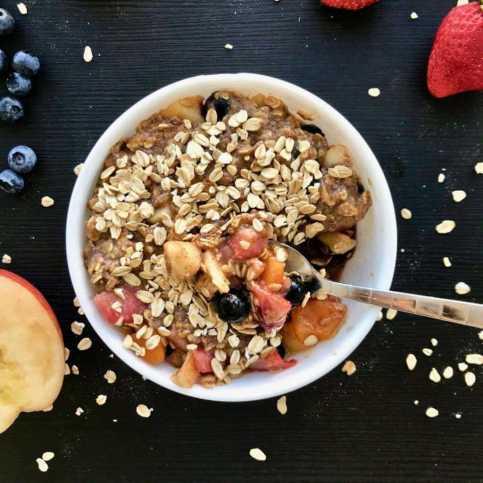 Microwave Vegan Fruit Dessert recipe