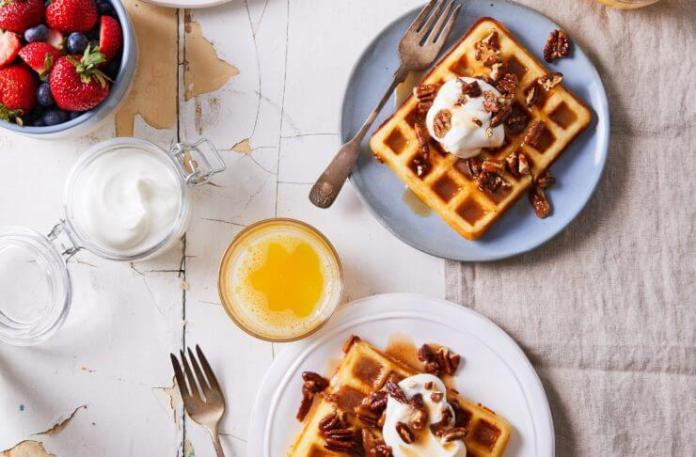Cinnamon Pecan Waffles recipe