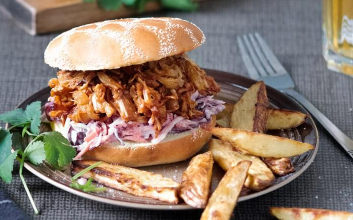 Fooled Pork Sandwich With Fries