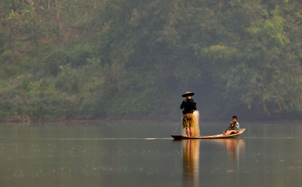 Fishing in Laos