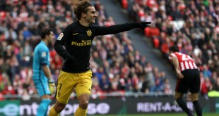 Antoine Griezmann scores for Atletico Madrid