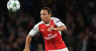 Arsenal midfielder Santi Cazorla in action for the Gunners during the 2016/17 season