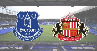Premier League clash between Everton and Sunderland at Goodison Park
