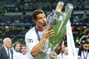 Cristiano Ronaldo of Real Madrid during the UEFA Champions League final match between Real Madrid and Atletico Madrid on May 28, 2016 at the Giuseppe Meazza San Siro stadium in Milan