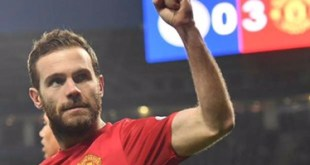 Juan Mata celebrates scoring for Manchester United