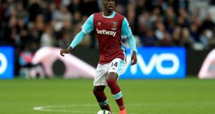 West Ham United midfielder Pedro Obiang in action