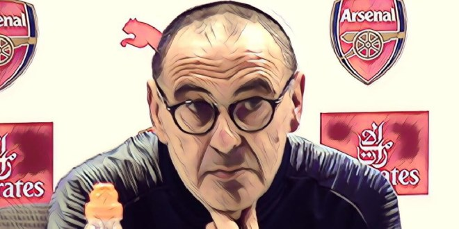 Extremely angry Maurizio Sarri