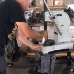 Gary is a master at making each fixture to help the employees put the Footbar Walker together.