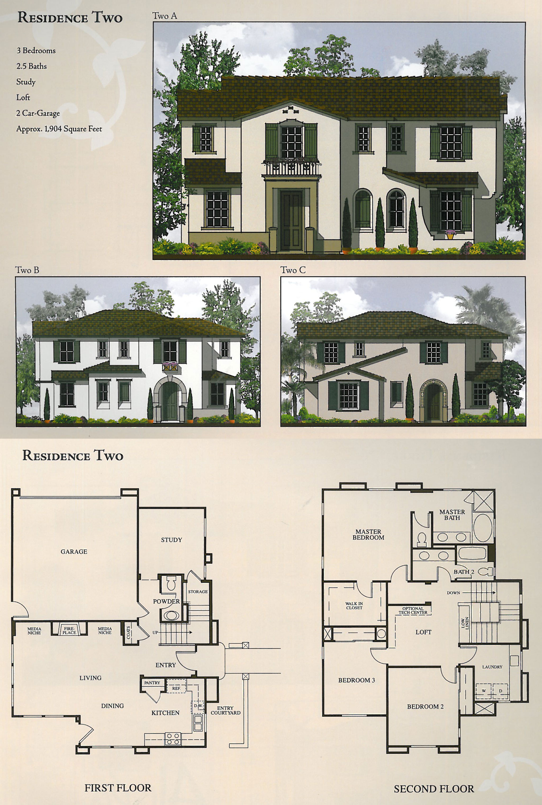Floor Plans  Elevations  The Foothills at Carlsbad