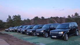 landrovers for cast and crew