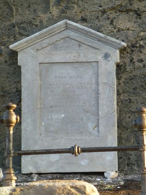 memorial to the milnes
