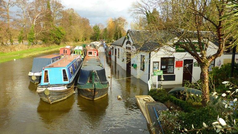 Farncombe Boathouse flooded