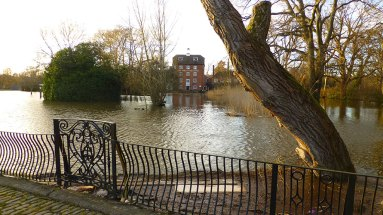 The Mill at Elstead is entirely cut off.