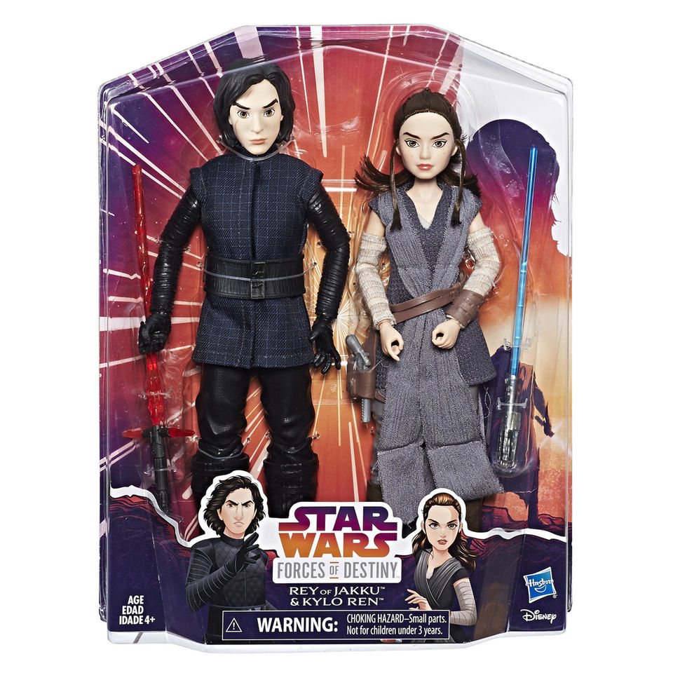 New Forces Of Destiny Rey And Kylo Ren Figure 2 Pack