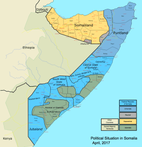 Piracy and Terrorism - Political situation in Somalia, 2017