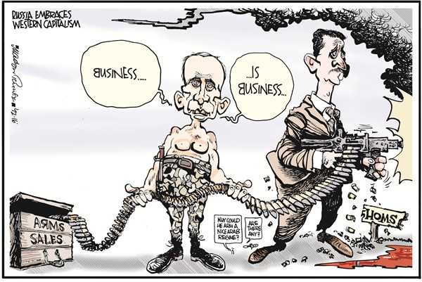 Putin's Arms Sales to Assad Russia Syria