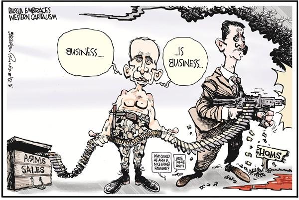Putin's Arms Sales to Assad Russia Syria