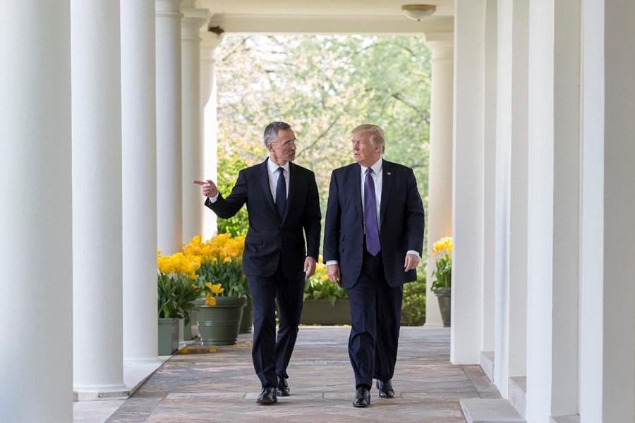 Donald_Trump_&_NATO_Secretary_General_Jens_Stolenberg,_April_12,_2017_USA Europe Russia Cold War 2.0