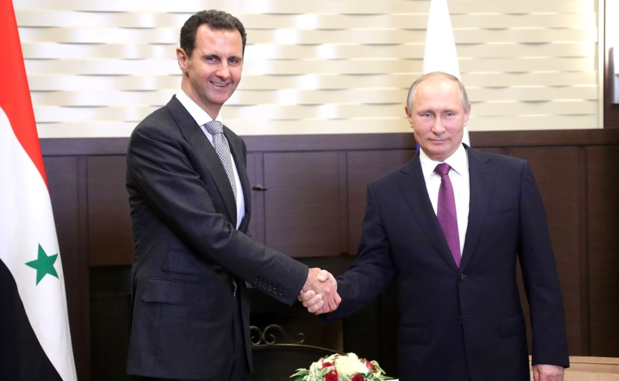 Vladimir Putin and Bashar al-Assad in 2017, Syria, Russia, Cold War 2.0